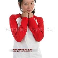 2013红白插肩款情侣长袖T恤,空白T恤,情侣装批发,女款
