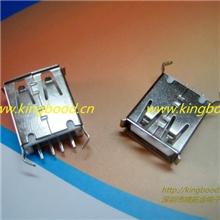 USB连接器母座A母180度13.7弯角USB2.0母座厂家直销