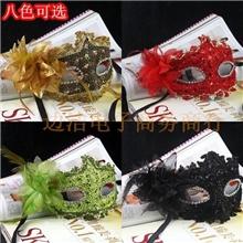 2013新款威尼斯面具蕾丝水钻皮革面具百合花公主带花面具