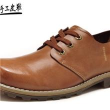 新款男士日常真皮时尚休闲鞋蒙古牛皮英伦男鞋批发休闲男鞋
