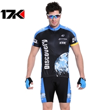 17K-探索品牌春夏秋季短袖骑行装批发定做骑行服