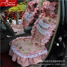 f福宇顺美夏季汽车座垫女性汽车座垫F008-01蕾丝汽车座垫座垫