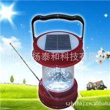 太阳能野营灯(照明,带收音机、便携太阳能野营灯)