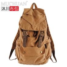 厂家直销韩版背包男女双肩包学生书包帆布休闲潮英伦旅行包