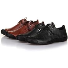 UPP秋冬新款男士方头皮鞋时尚韩版英伦皮鞋板鞋商务休闲鞋