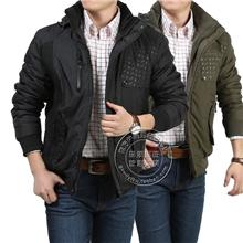 AFSjeep/战地吉普修身夹克式棉衣棉服男装爆版可脱帽棉衣8855