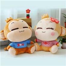 毛绒玩具公仔悠嘻猴爱心情侣猴情侣对猴子