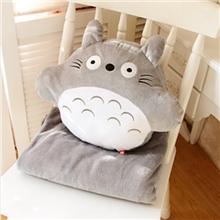 龙猫卡通创意空调毯空调被填充毛绒玩具礼品三用