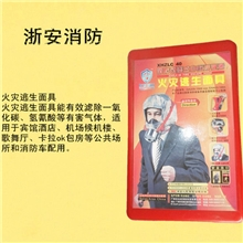 浙安牌火灾逃生面具/防毒面具/防烟面具/消防呼吸器/40分钟