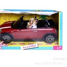 美泰专柜正品Barbie芭比迷你酷派车模型芭比儿童玩具套装W3157