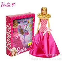 正品美泰芭比娃娃礼盒套装玩具芭比女孩之小提琴家X3494礼物