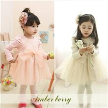 [Amberberryˉ2283现货]韩版童装批发秋装女童网纱连衣裙品牌
