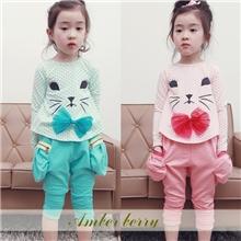 13年秋季新款童套装外贸女童裤套装秋款长袖裙套装韩版中小童