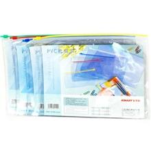 领秀文具金得利PVC透明文件拉链袋F55B5透明文件袋资料袋