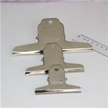 领秀文具金得利办公用品山形钢票夹1#145mmOS1071金属夹