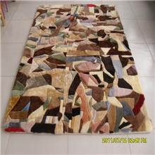 纯羊毛地毯澳洲羊皮拼块地毯地垫客厅卧室毛毯地毯厂家批发