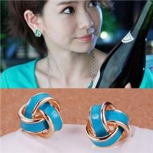 厂家直供韩版时尚可爱滴油几何型耳环8色可选耳饰小饰品批发