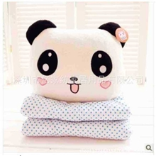 抱枕厂家定做个性抱枕毯毛绒熊绣花广告抱枕被卡通礼品抱枕毯