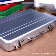 高档密码箱造型铝质名片夹手提箱名片盒