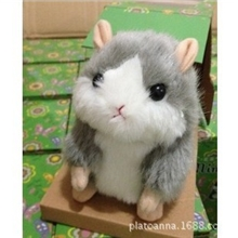 供应可爱电子会说话的毛绒仓鼠玩具会说话的汤姆猫录音仓鼠