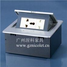 多功能锌合金桌面插座
