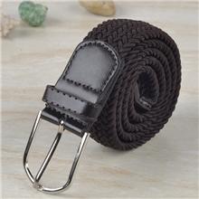 T707咖啡时尚裤带编织纯色腰带款式多厂家直销可定制