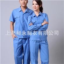 供应上海现货交货快长短袖舒适高含棉面料夏装工作服cy-jx16