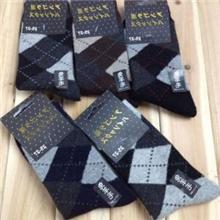 批发冬季必备日韩袜子保暖袜大菱形男士袜兔羊毛袜厂家直销