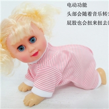 厂家直销地摊玩具电动儿童玩具公仔电动音乐儿童玩具芭比娃娃