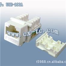 过FLUKE测试标淮RJ45网络信息超五类模块适用于AMP面板