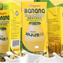 韩国进口宾格瑞香蕉牛奶饮料200ml热销中韩国进口食品
