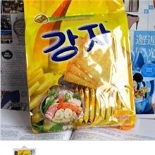 韩国薯工坊土豆饼干泡菜味酥脆咸味的360克薯片批发