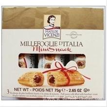代理产品意大利维鲜迷你夹心直条饼干75g欧美进口食品批发