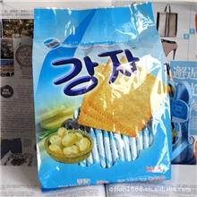 韩国热销薯工坊薄脆饼干(大蒜味)独立包360克*18包土豆饼干