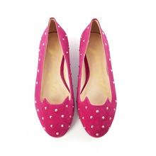 VIVI杂志新款金属铆钉猫脸线条乐福鞋平底单鞋猫咪鞋长期现货