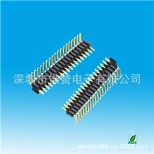 【品质保证】1.0mm排针单排双排90°