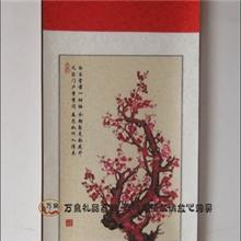 中国特色家居装饰挂画民间挂轴精品装裱剪纸手工艺品报春图