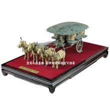 铜车马礼品模型仿古工艺品摆件西安兵马俑旅游纪念品家居摆设