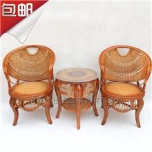 包邮真藤桌子椅子高档休闲客厅桌椅时尚茶具茶几藤椅批发