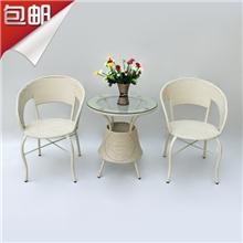 藤椅茶几套装户外休闲pe塑料藤椅客厅茶楼藤椅子茶几批发