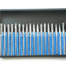 电磨配件钨钢磨头铣刀硬质合金旋转锉雕刻削磨20支装3*3mm