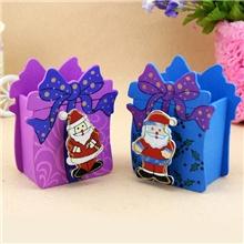 厂家热销彩绘圣诞方形笔筒卡通笔筒圣诞笔筒批发