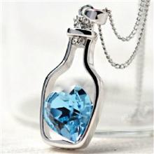 热销进口奥地利水晶项链女许愿瓶韩国饰品爱情信物纪念批发