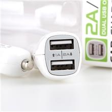 GOLF/高尔夫双USB接口苹果4/5手机通用车载充电器车充适配器