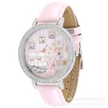 韩版时尚女款手表批发供应钟表新款韩国MINI软陶学生水钻表1087