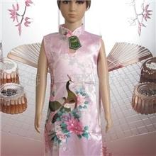 供应仿真丝圆孔儿童旗袍(粉孔)B602